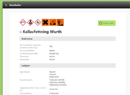 Spineweb - Kemikaliehantering